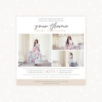 Photography Mini Sessions Template Square