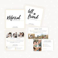 Photography Referral Cards Templates