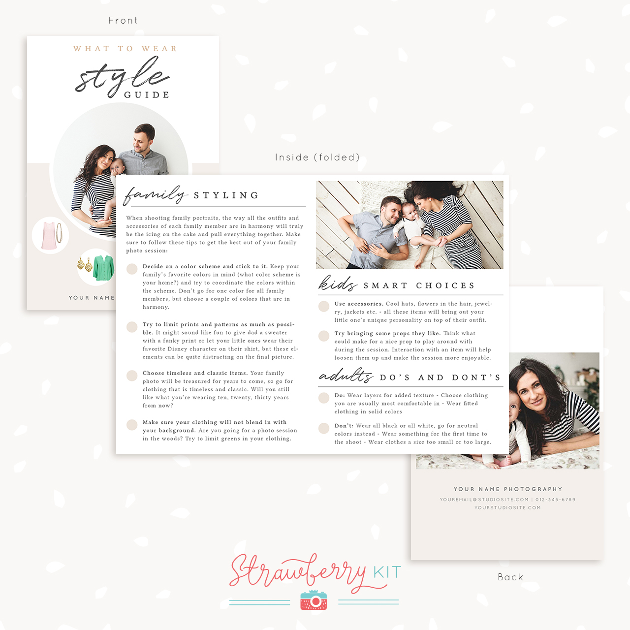 Photography template what to wear style guide