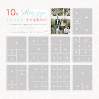 Photoshop Letter Size Collage Templates