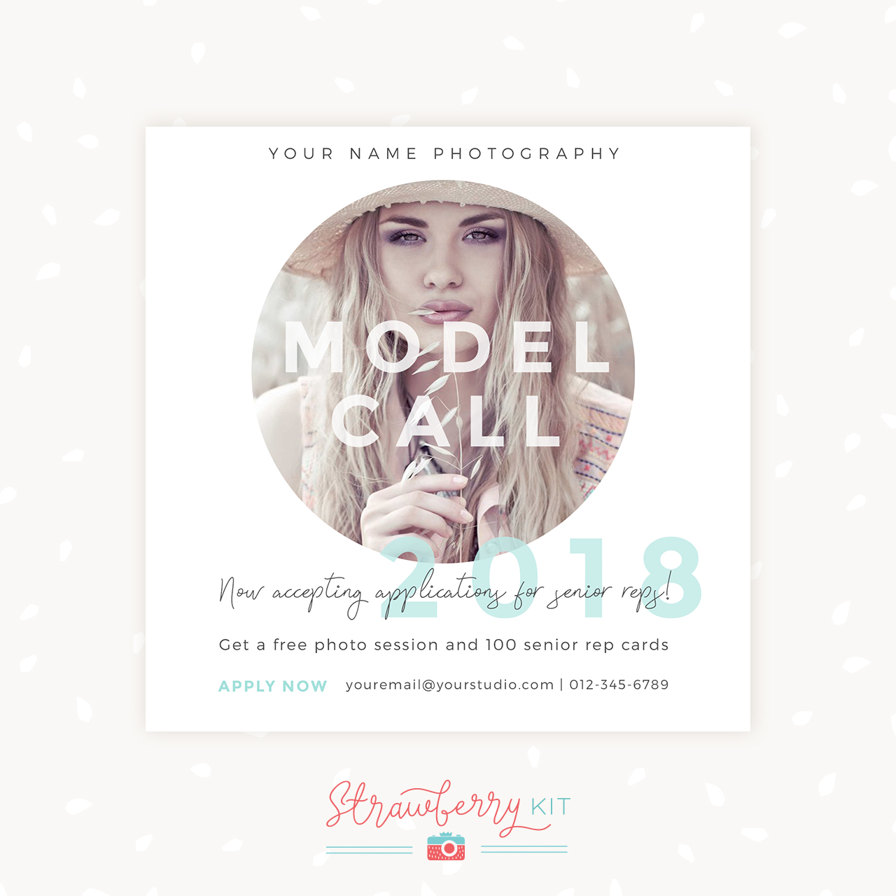 Senior Rep Model Call Template Photographer