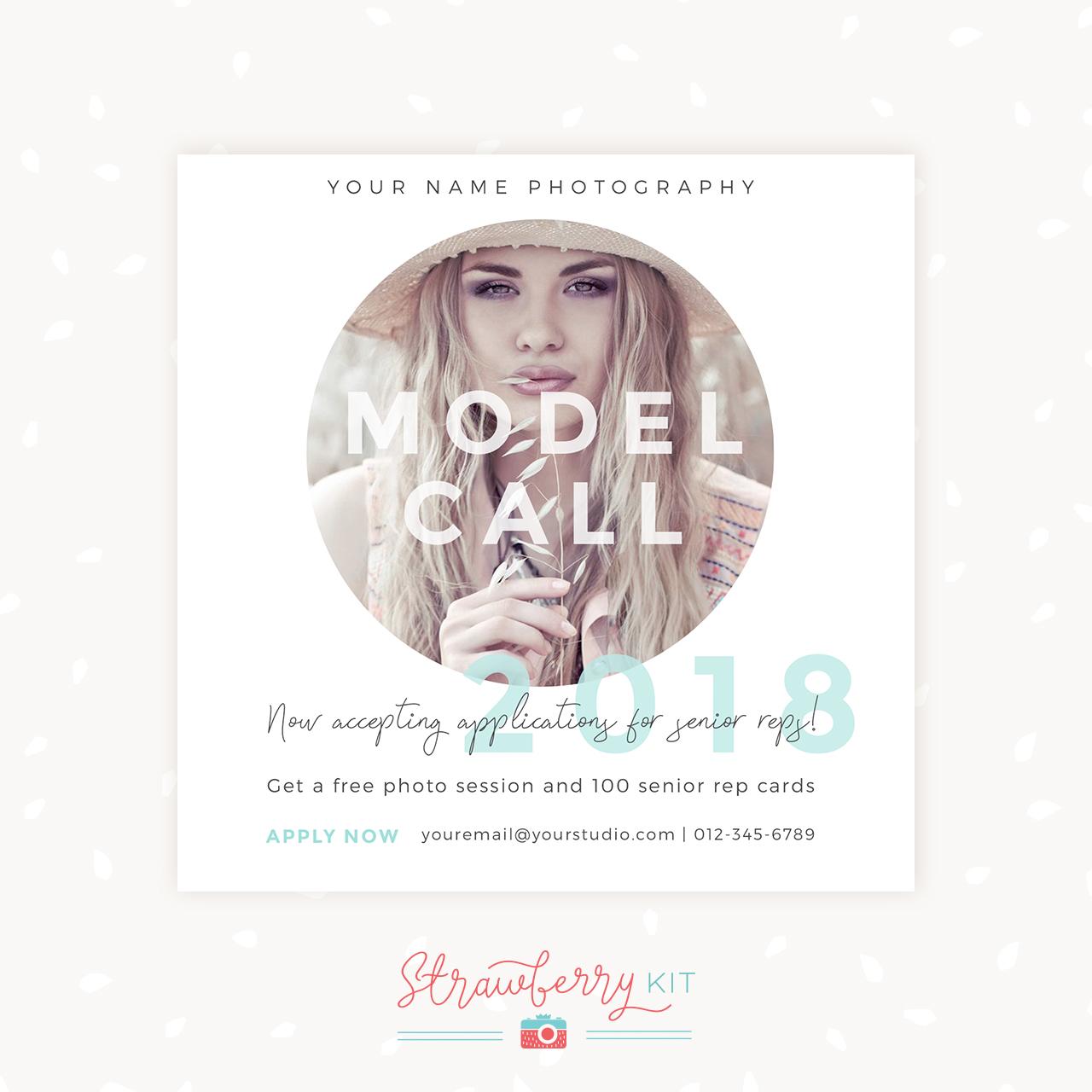 Senior Rep Model Call Template Photographer