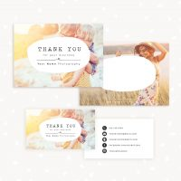 Thank you card template 7x5 business card photographers