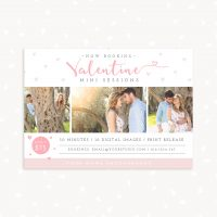 Valentine Mini Sessions Template Photography
