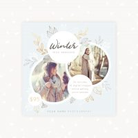 Winter Mini Sessions Template Photography