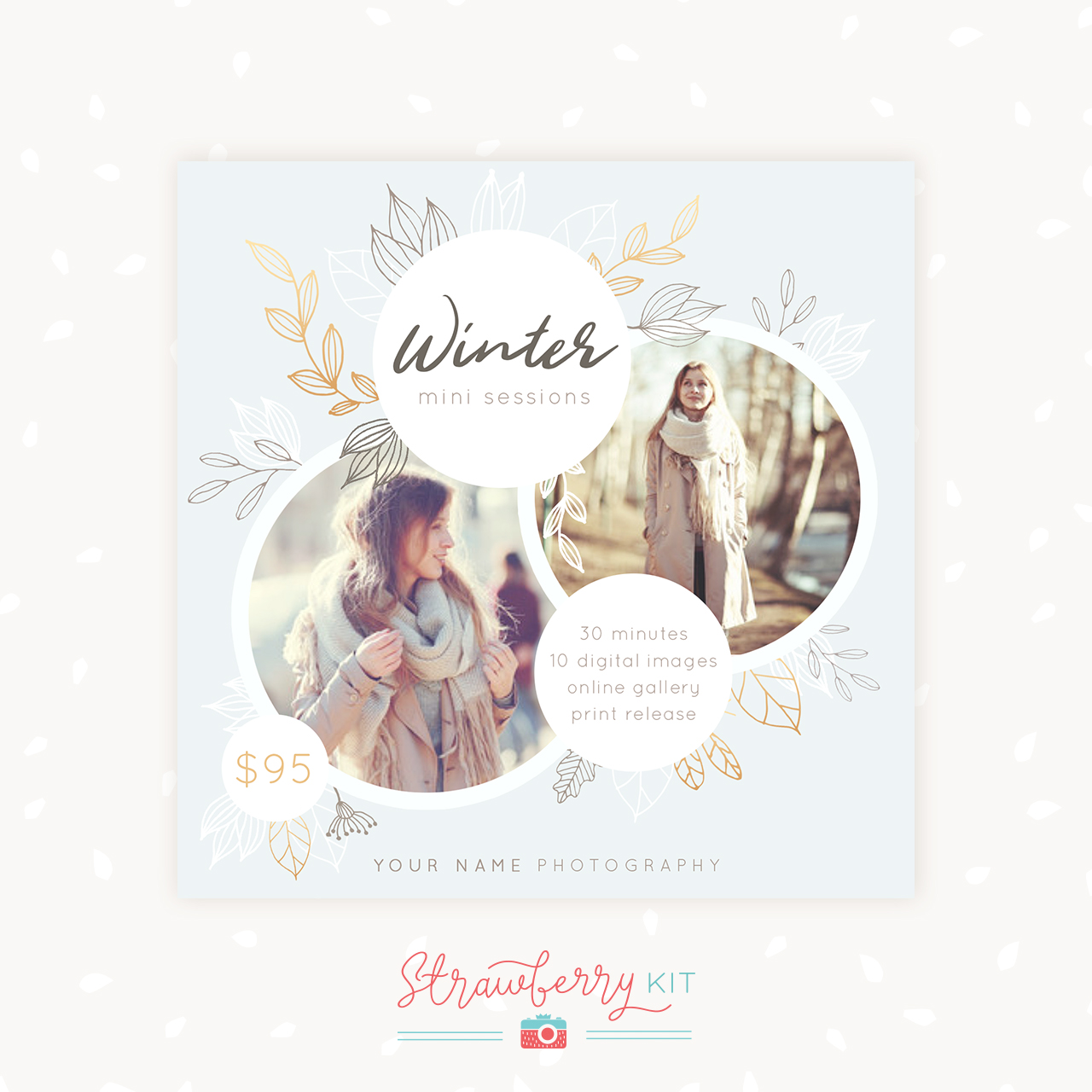 Winter Mini Sessions Template