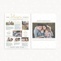 Year in Review card template photography