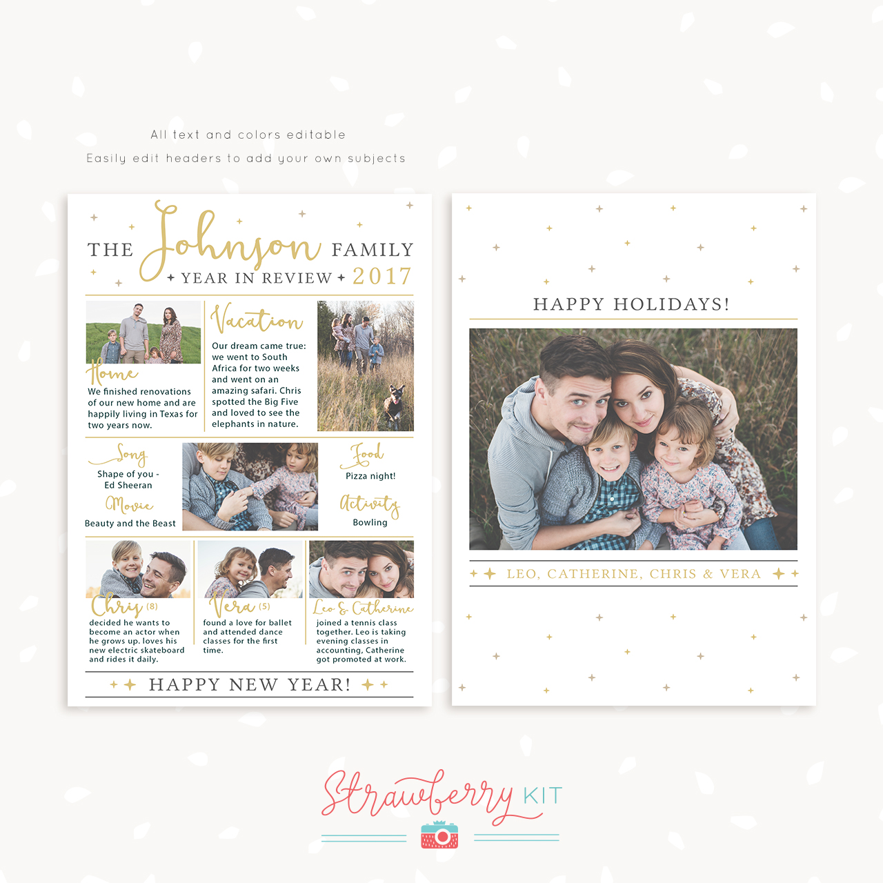 Year in Review New Year's Card Template