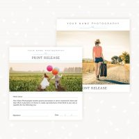 Photographer Print Release Template Download