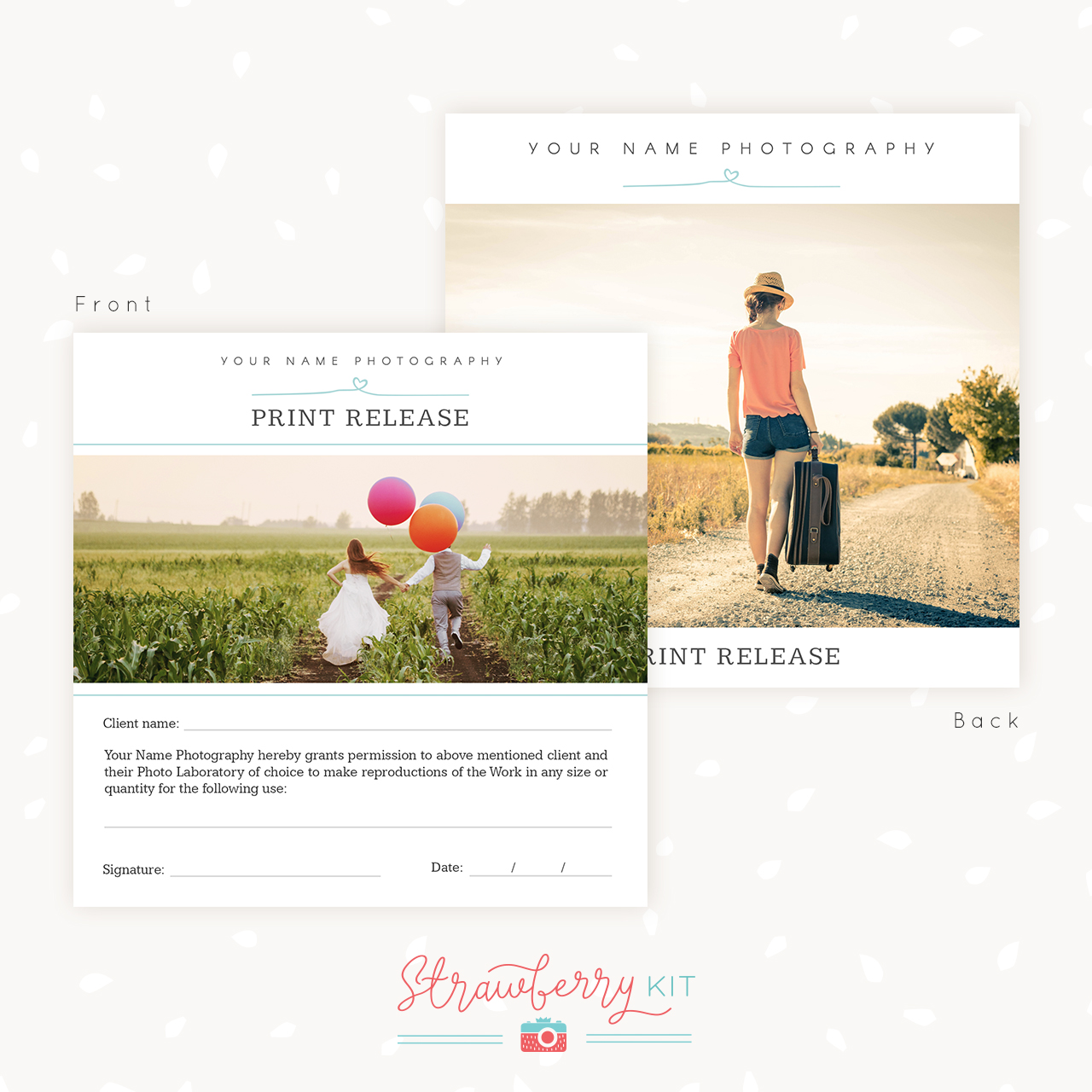 Photography Print Release Card