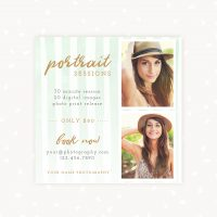 Portrait sessions photography marketing template