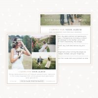 Care card album template photoshop