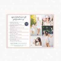 Upcoming sessions photography template