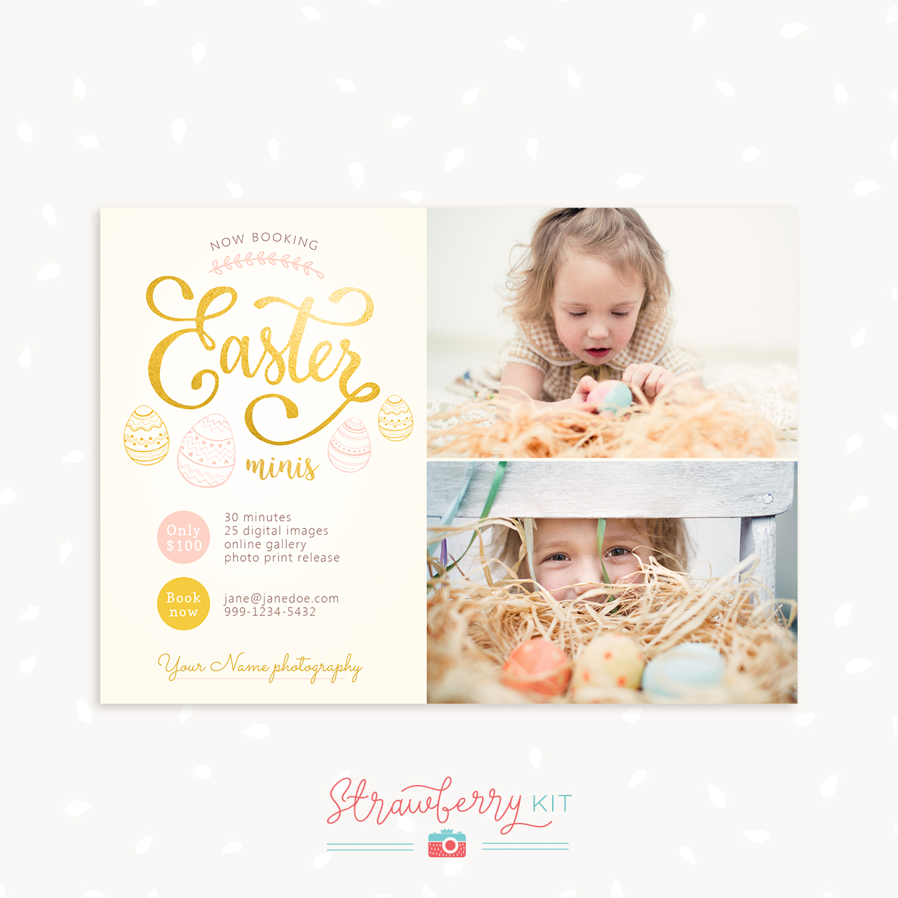 Easter mini sessions template Photography
