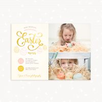 Easter mini sessions template Photoshop