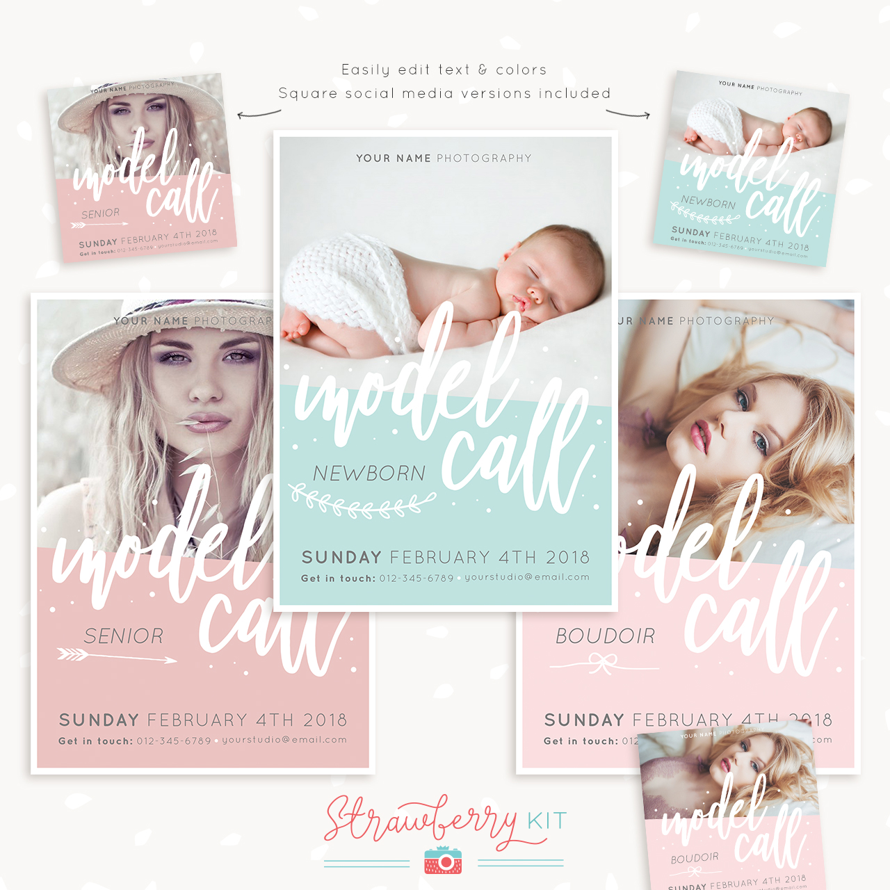 Model Call Templates for Photoshop
