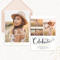 Senior Invitation Template Photoshop