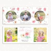 Spring Facebook Cover Template Photography