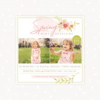 Spring mini sessions template photographers