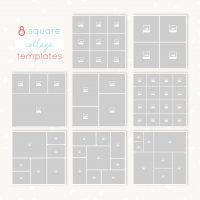 Square collages bundle for Photoshop