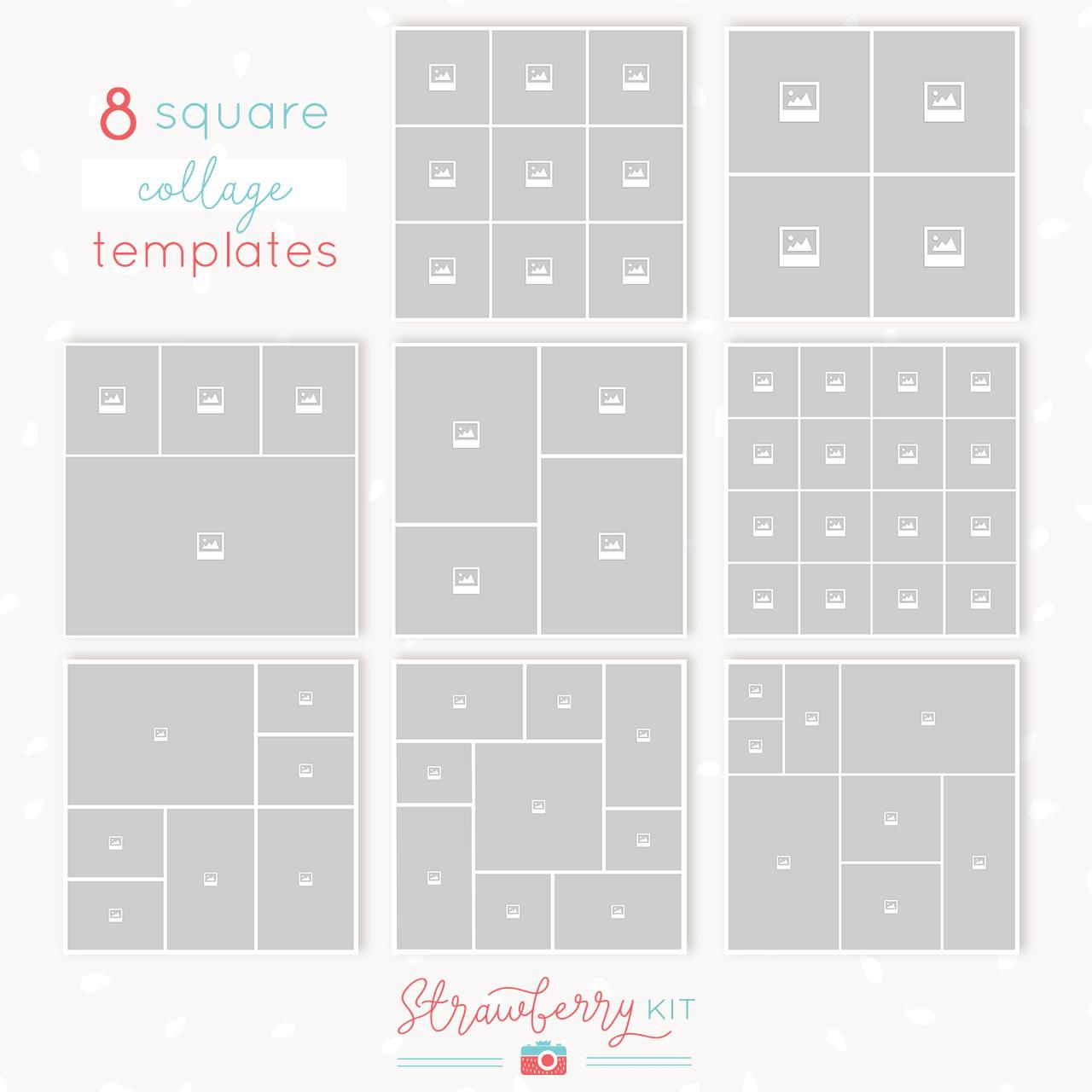 Square collages bundle