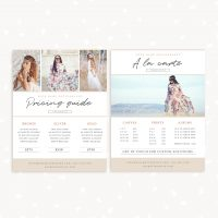 Photography price list design