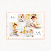 Cake smash photo collage template