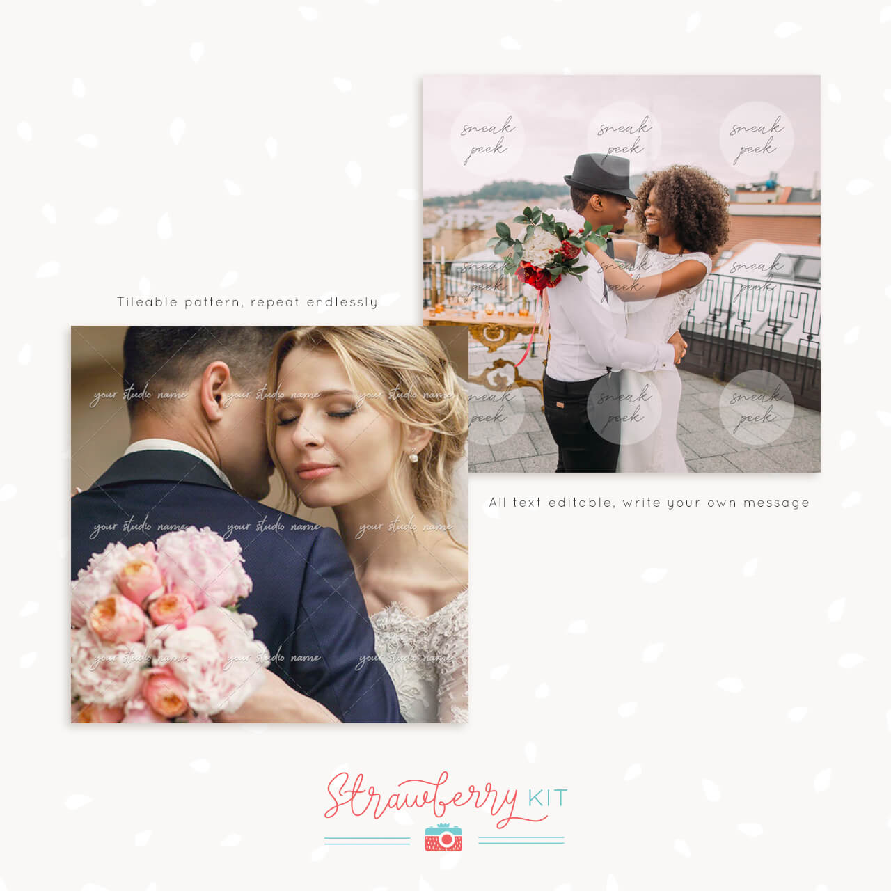 Photography Watermark Template Set Of Two