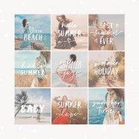 Summer Text Overlays Photoshop