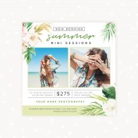 Summer mini sessions template tropical