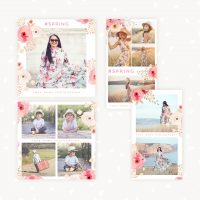 Instagram Floral Collage Templates