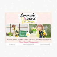 Lemonade Mini Sessions Template