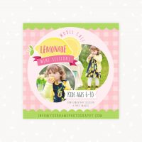 Lemonade Stand Photo Sessions Model Call
