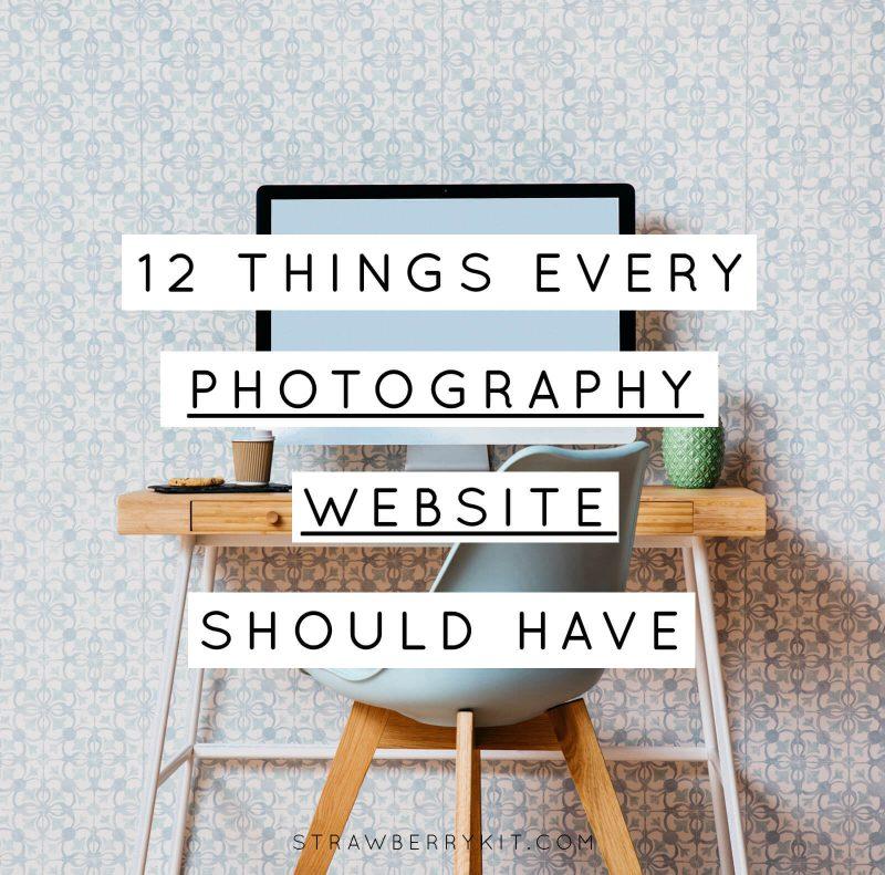Photographer Website Tips