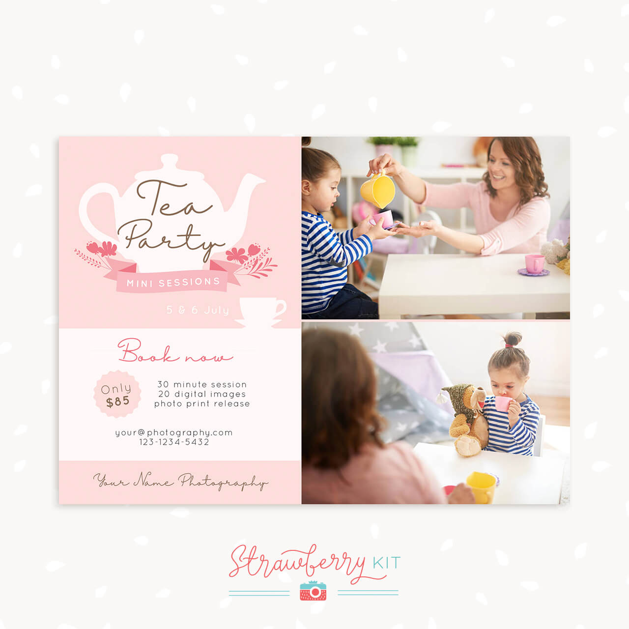 Tea Party Mini Sessions Template
