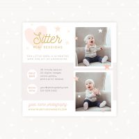 Baby Sitting Mini Sessions Template