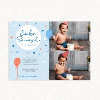 Cake Smash Mini Sessions Template Blue