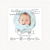 Newborn Announcement Template Social Media