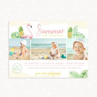 Summer Mini Sessions Template Tropical Leaves