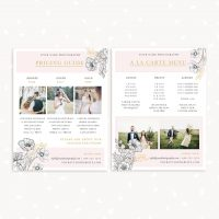 Wedding Photography Price List Package A la carte