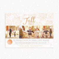 Fall mini sessions photoshop template