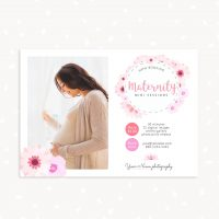 Floral Maternity Mini Sessions Template
