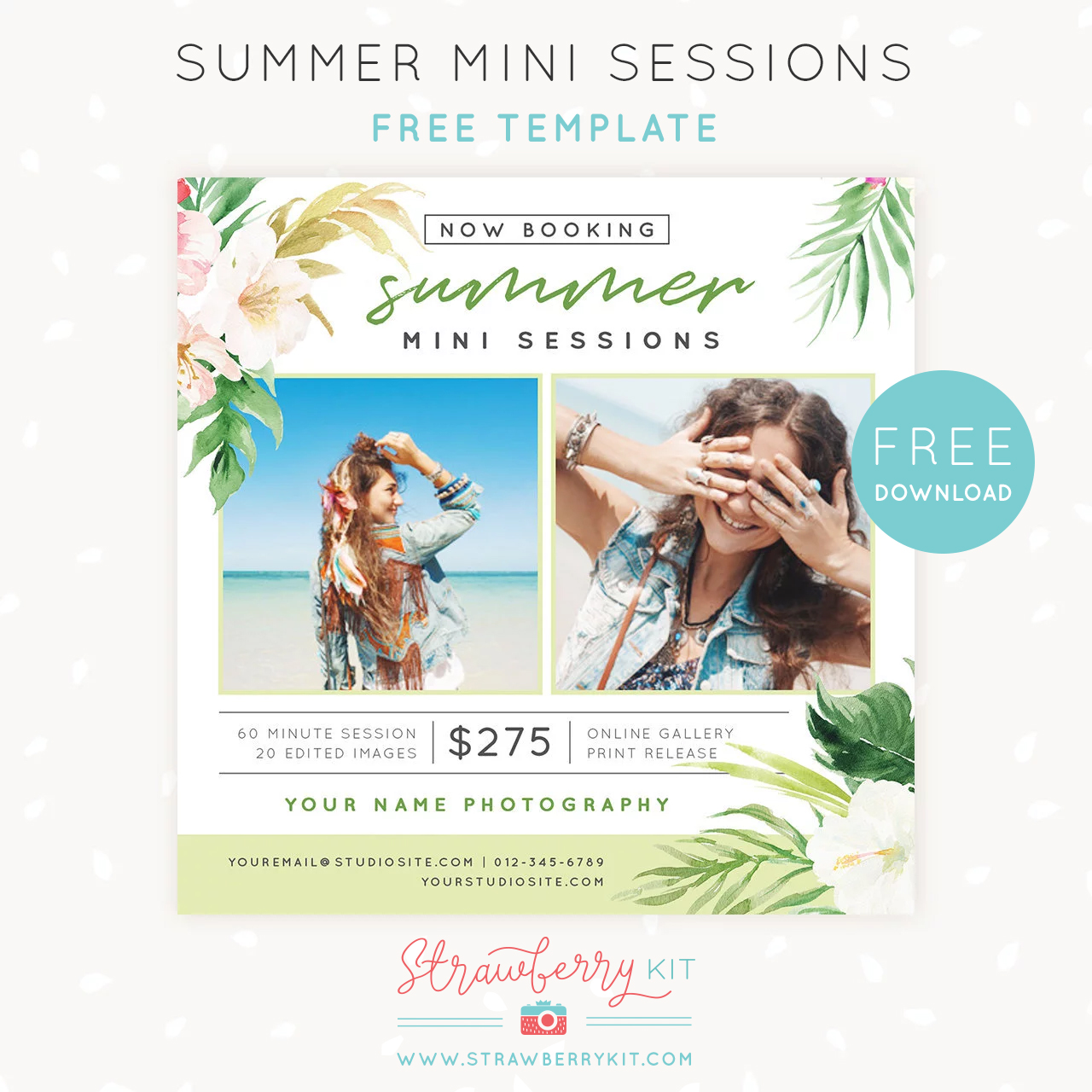 Free Summer Mini Sessions Template For Photo