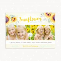 Sunflowers Mini Session Template