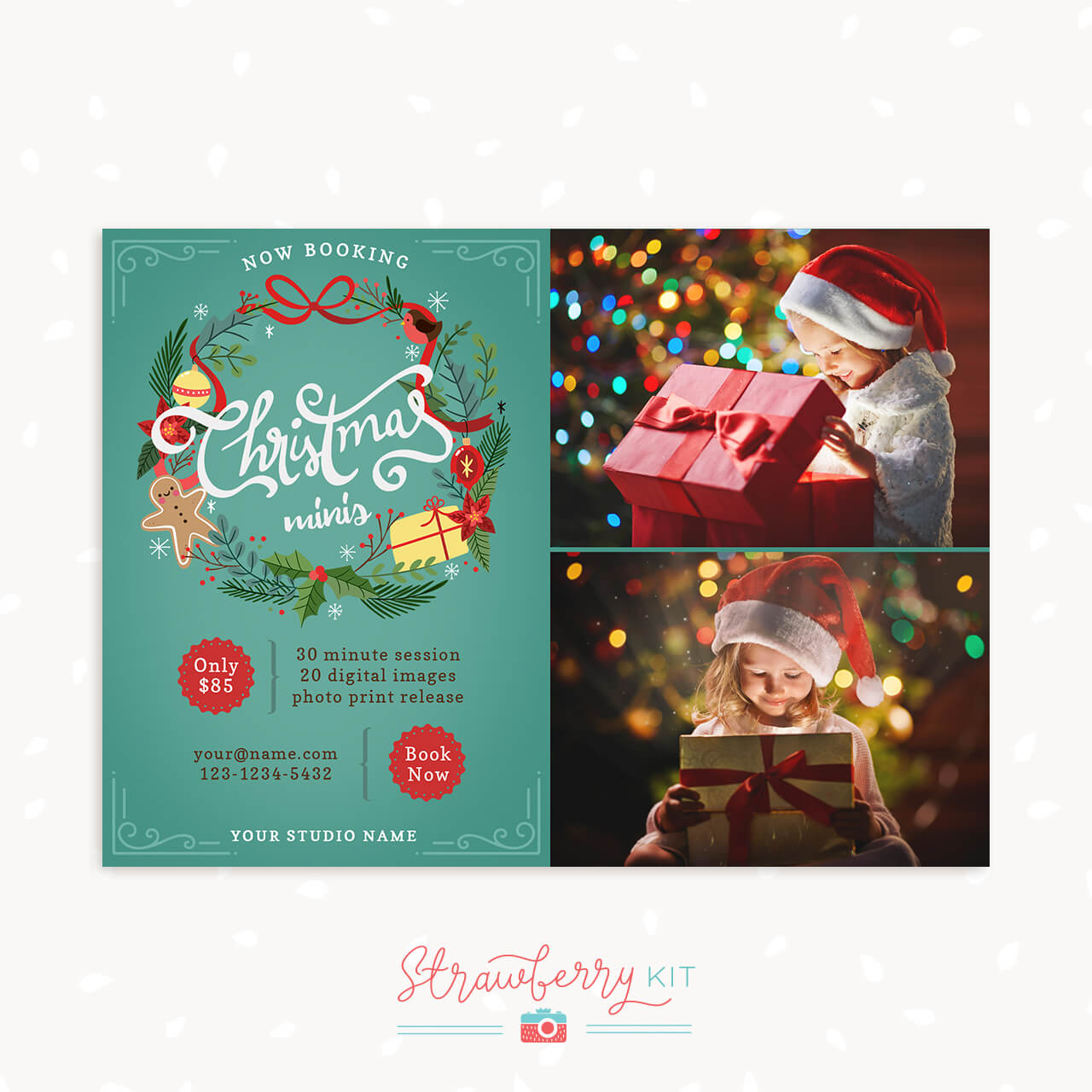 Christmas Mini Sessions Template Photographer Download