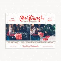 Christmas Photo Sessions Template Lettering