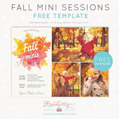 FREE fall mini sessions template for photographers