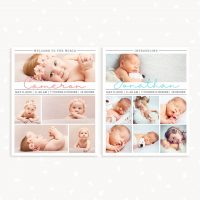 Newborn Photography 8x10 Collages