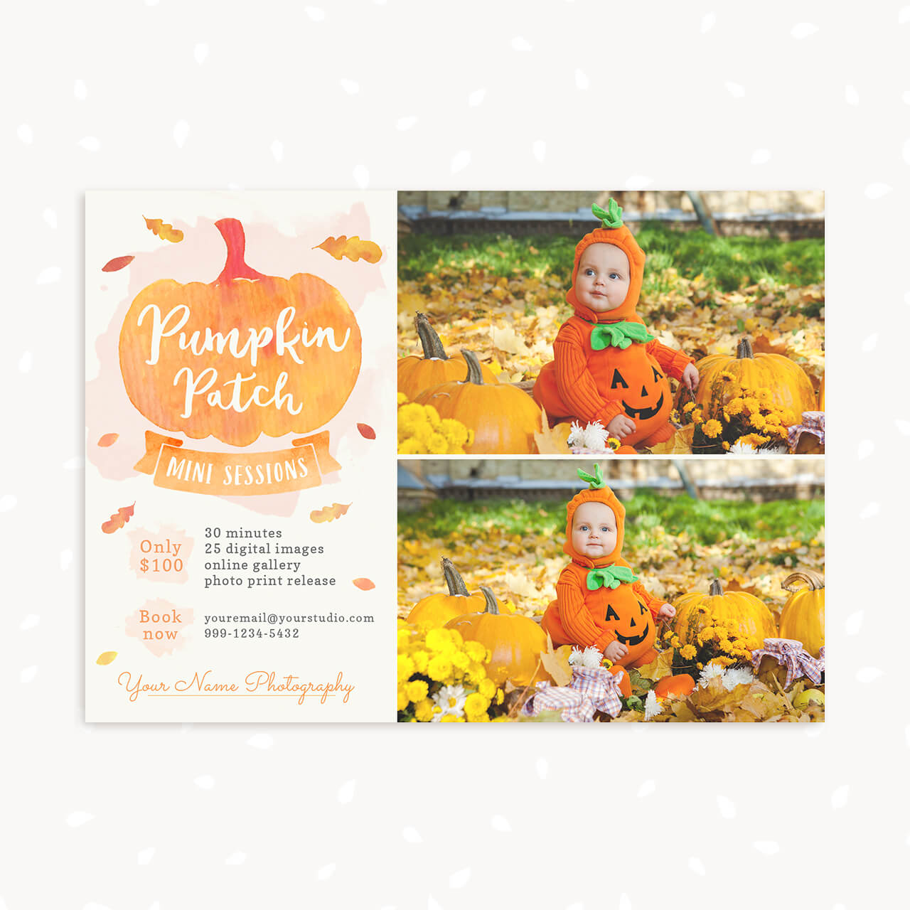 Pumpkin Patch Mini Session Template