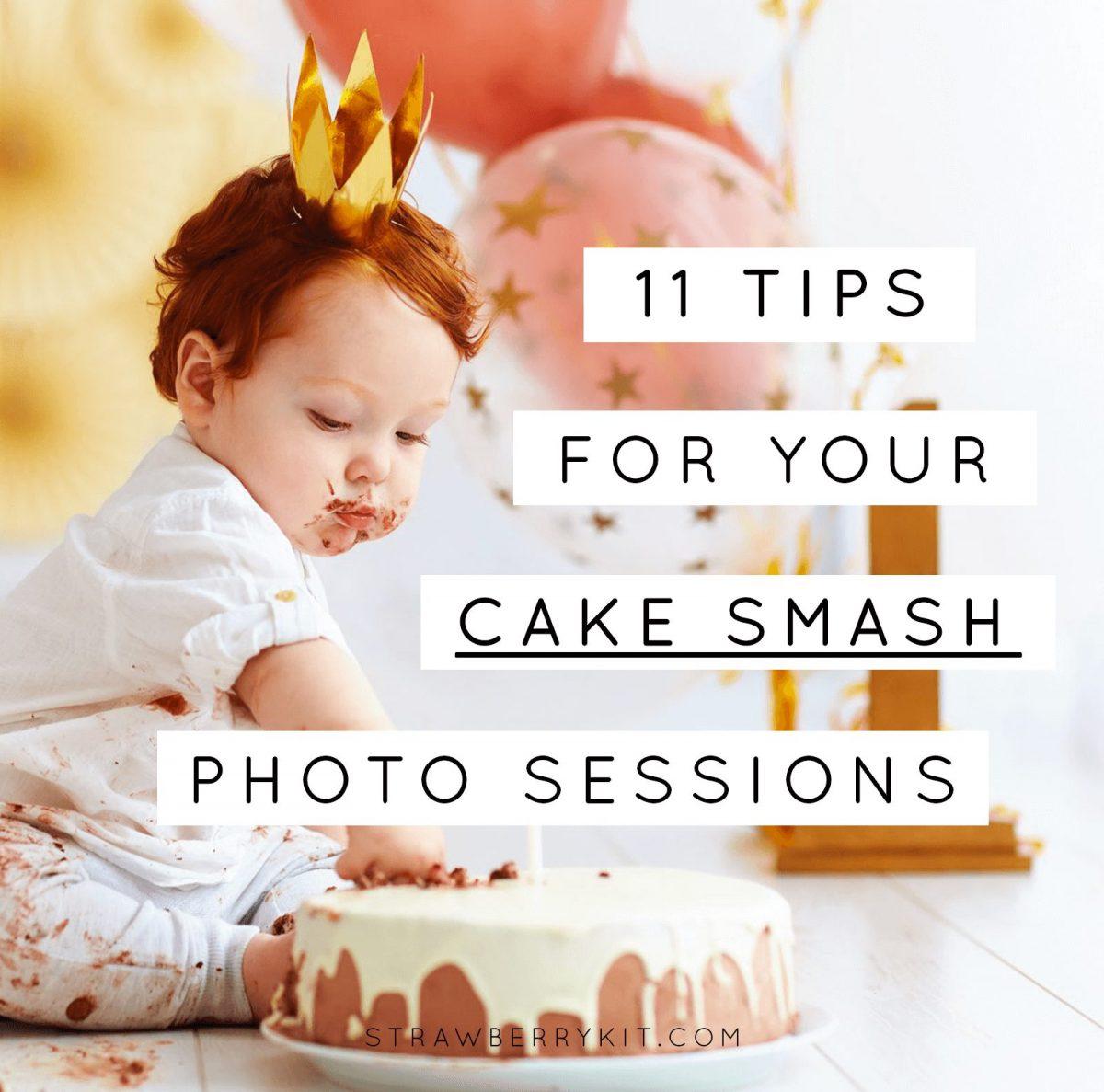 Cake Smash Photo Session Tips